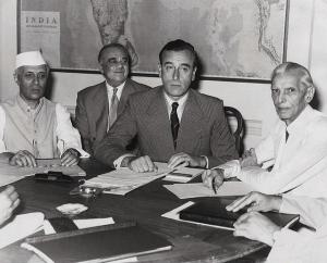 Nehru, Mountbatten and Jinnah